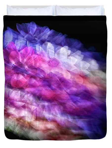 Anemone Abstract Duvet Cover by Claudia Kuhn