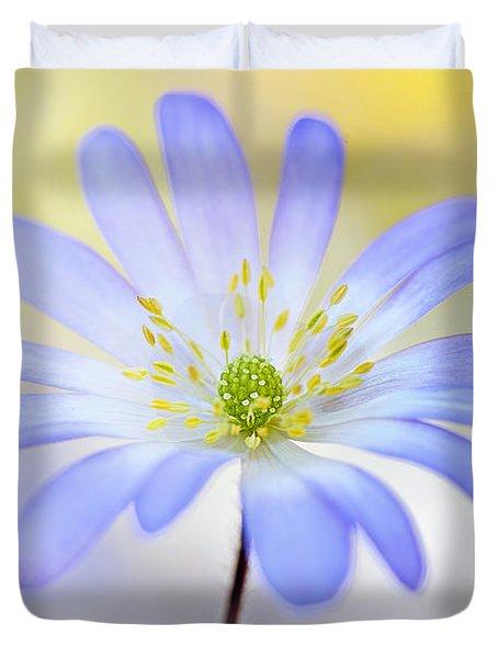 Anemone Blanda Duvet Cover by Jacky Parker