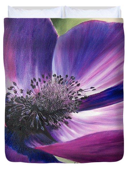 Anemone Coronaria Duvet Cover