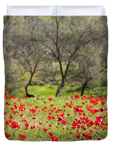 At Ruchama Forest Israel Duvet Cover