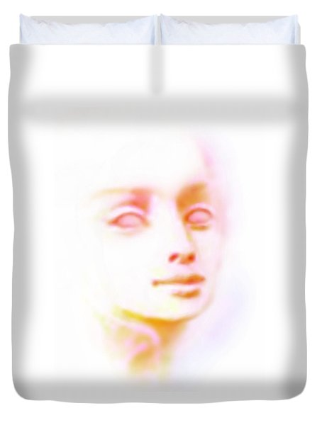 Duvet Cover featuring the painting Angel Angel Oh So Bright by Hartmut Jager