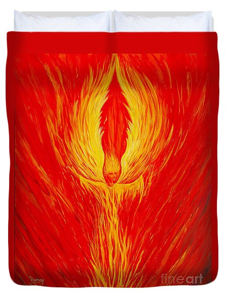 Angel Fire Duvet Cover