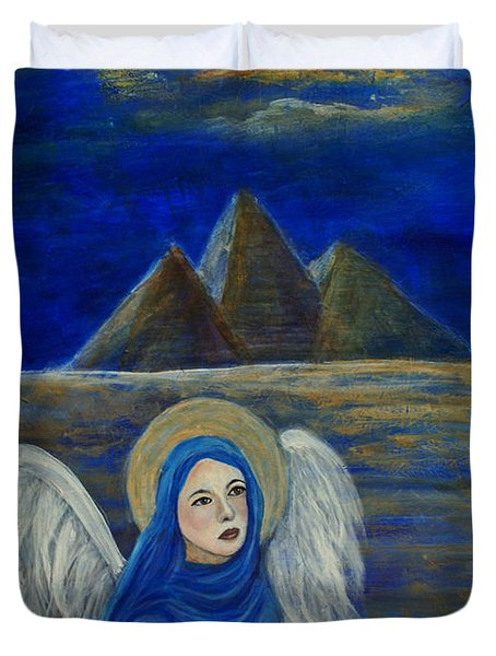Angel From Eygpt Called Lapis Lazueli Duvet Cover by The Art With A Heart By Charlotte Phillips