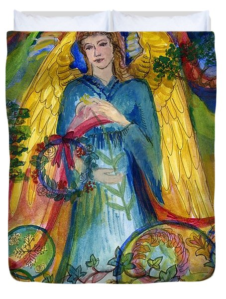Angel In Blue Duvet Cover