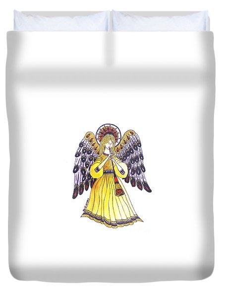 Angel In Horns Section Duvet Cover