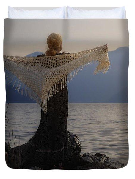 Angel In Sunset Duvet Cover by Joana Kruse