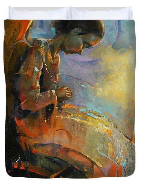 Angel Meditation Duvet Cover by Michal Kwarciak
