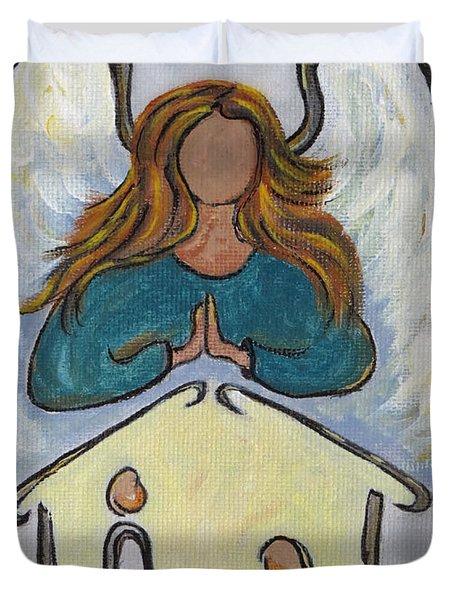 Angel - Messenger Of Joy Duvet Cover