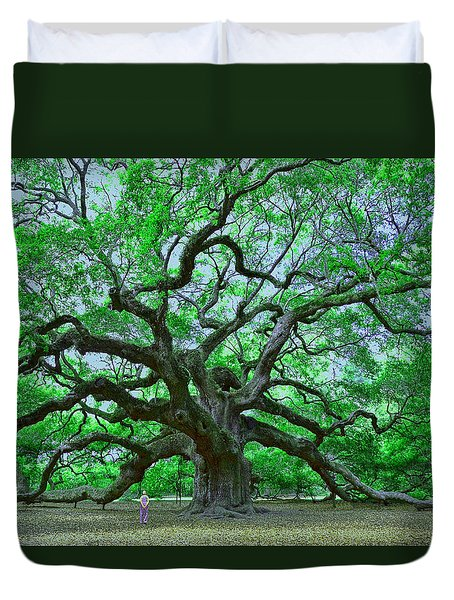 Angel Oak Duvet Cover by Allen Beatty