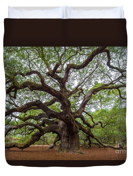 Angel Oak Tree Duvet Cover by Dale Powell