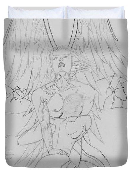 Angel Of God Struggle Duvet Cover