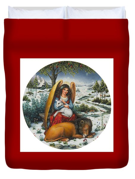 Angel Of Peace Duvet Cover