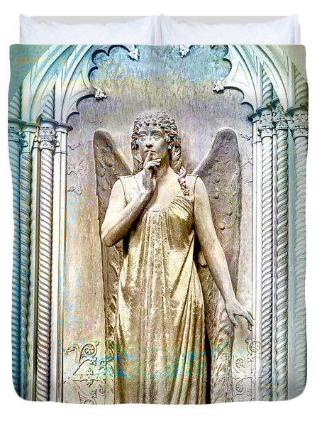 Angel Of Silence.genoa Duvet Cover
