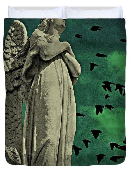 Angel Of Stone Duvet Cover