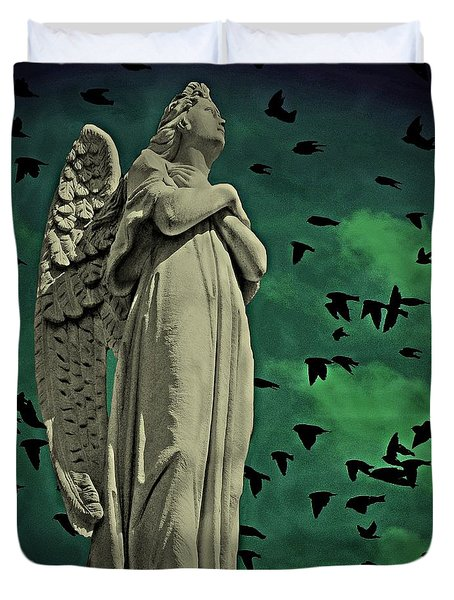 Angel Of Stone Duvet Cover