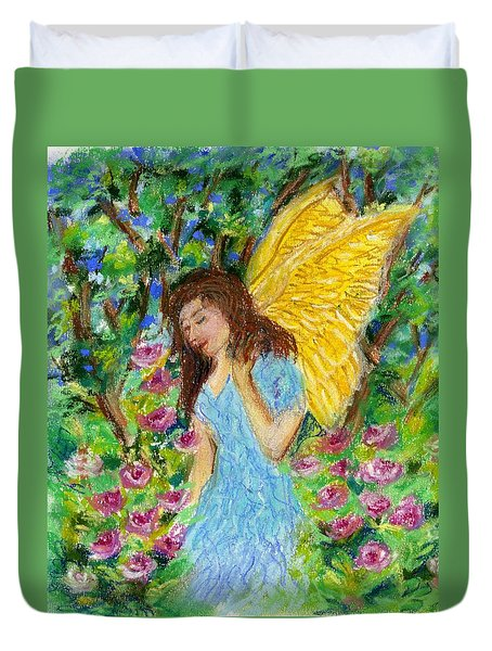 Angel Of The Garden Duvet Cover