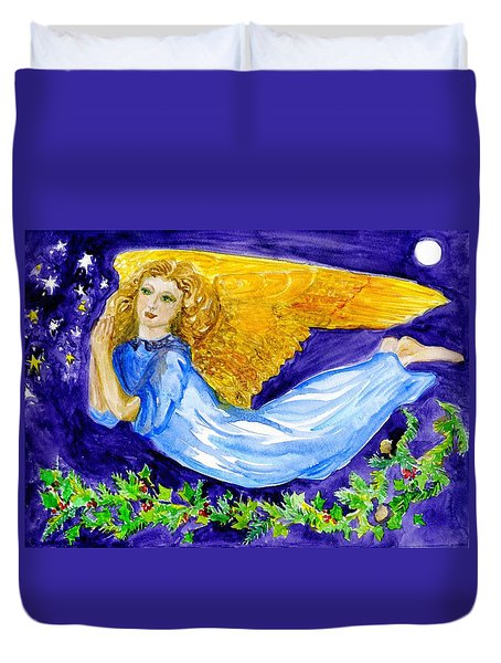 Angel Of The Skies Duvet Cover