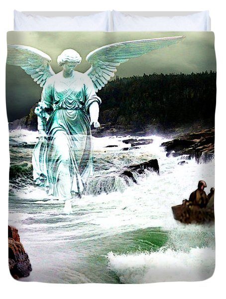Angel Of The Storm  Duvet Cover by Lianne Schneider