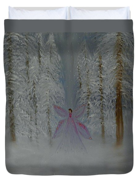 Angel Of Winters Past Duvet Cover