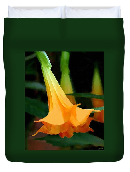 Angel Trumpet Duvet Cover