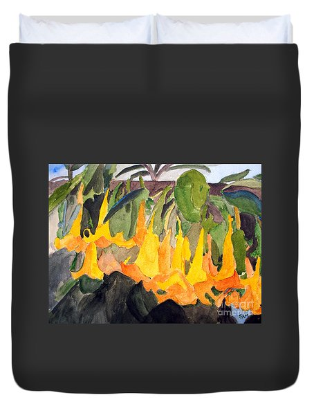 Angel Trumpets Duvet Cover