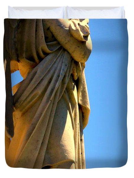Angel Watching Duvet Cover