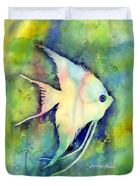 Angelfish I Duvet Cover by Hailey E Herrera