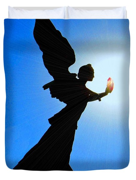 Duvet Cover featuring the photograph Angelic by Patrick Witz