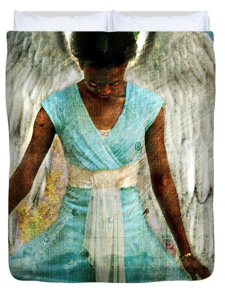 Angelic Thanks Duvet Cover