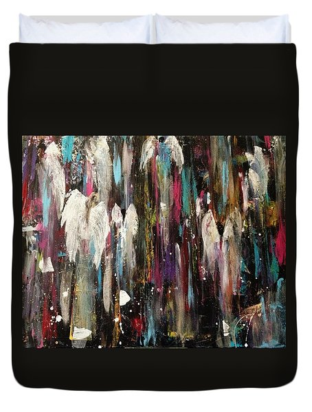 Angels Among Us Duvet Cover by Kelly Turner