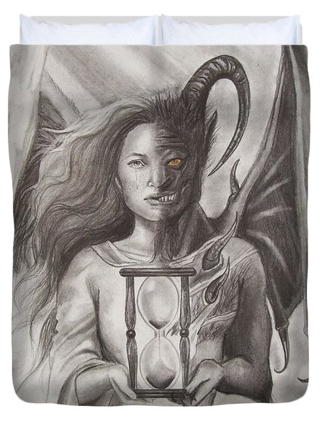Angels And Demons Duvet Cover by Amber Stanford