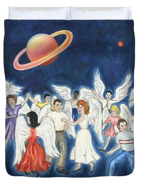 Angels Dancing Duvet Cover by Linda Mears