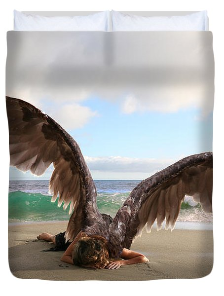 Angels- For The Lord Himself Will Descend From Heaven With A Shout Duvet Cover
