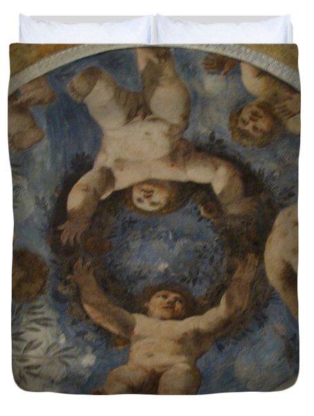 Angels In Castello Del Buonconsiglio Duvet Cover