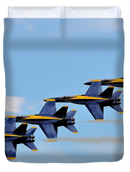 Angels Of The Sky Duvet Cover