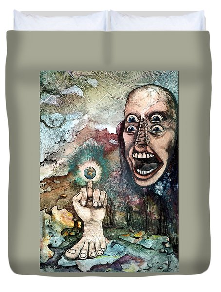 Anger Of Archon Duvet Cover by Mikhail Savchenko