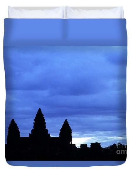 Angkor Wat Sunrise 01 Duvet Cover by Rick Piper Photography