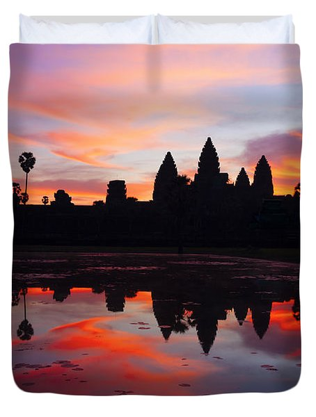 Angkor Wat Sunrise Duvet Cover