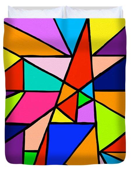 Angle Fun Duvet Cover by Anita Lewis
