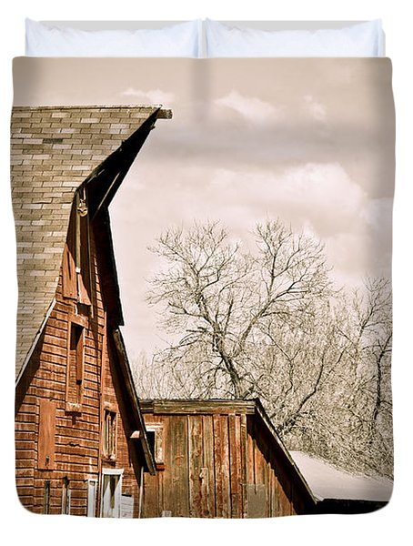 Angle Top Barn Duvet Cover by Marilyn Hunt