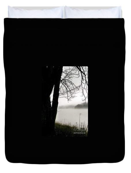 Duvet Cover featuring the photograph Angular Fog by Michael Hoard