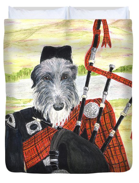 Angus The Piper Duvet Cover