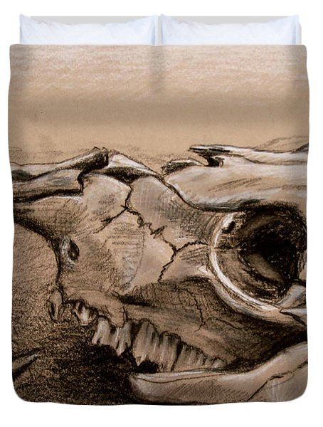 Animal Bones Duvet Cover by Samantha Geernaert