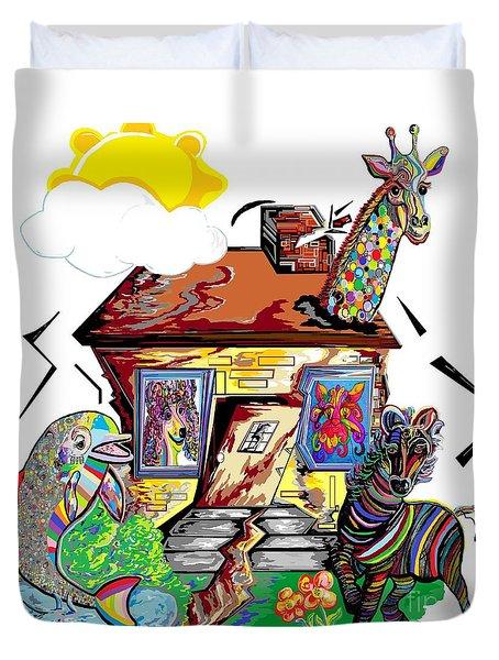 Animal House Duvet Cover by Eloise Schneider