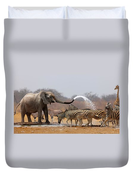 Animal Humour Duvet Cover by Johan Swanepoel