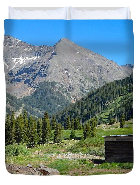 Animas Forks Jail Duvet Cover