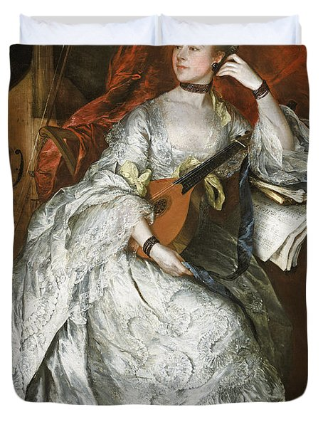 Ann Ford Later Mrs Philip Thicknesse, 1760 Oil On Canvas Duvet Cover