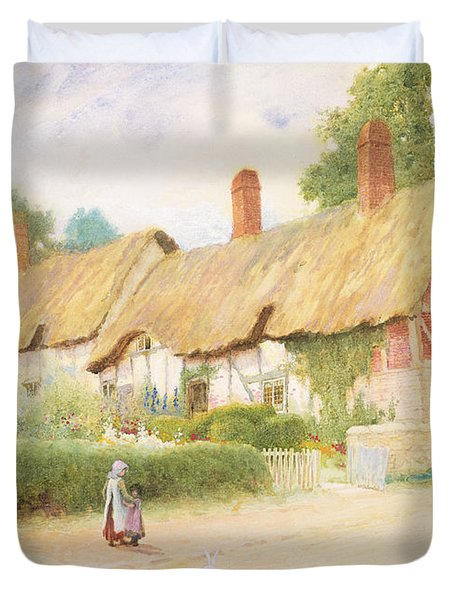 Ann Hathaway's Cottage Duvet Cover