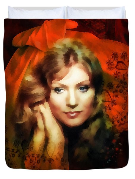 Anna German Duvet Cover by Mo T