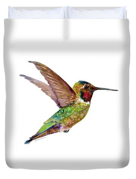 Anna Hummingbird Duvet Cover by Amy Kirkpatrick